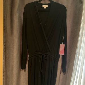Black cotton jumpsuit. NWT!